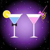 Cocktailparty-Plakat-Designschablone stockfoto