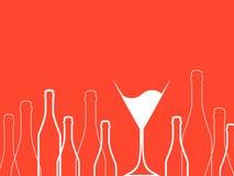 Cocktailparty-Rot Vektor Lizenzfreie Stockfotos