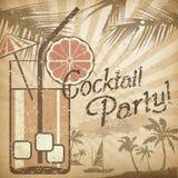 Cocktailpartyaffisch Arkivbilder