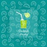 Cocktailpartyanzeige Lizenzfreie Stockfotos