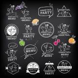 Cocktailpartymenü, Vektorillustration Lizenzfreies Stockbild
