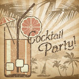 Cocktailpartyplakat Stockbilder
