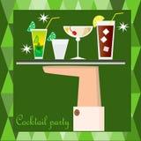 Cocktailpartyplakat Stockfotografie