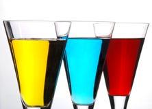 Cocktailreihe lizenzfreie stockfotografie
