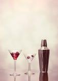Cocktails à la barre Images stock