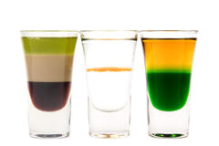 Cocktails. Some multi-colored puff cocktails on a white background Stock Image
