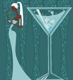 Cocktails stock illustration