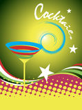 Cocktails.Abstract colorful banner.Cocktail party Royalty Free Stock Photo