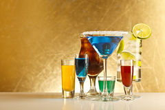 Cocktails with alcohol Royalty Free Stock Photography