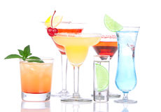 Cocktails alcohol drinks spirits Royalty Free Stock Images