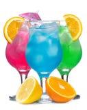 Cocktails avec des fruits image stock