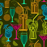 Cocktails background Royalty Free Stock Photo