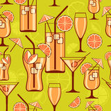 Cocktails background Stock Images