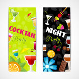 Cocktails banner vertical Royalty Free Stock Photos
