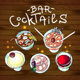 Cocktails bar top view Royalty Free Stock Images