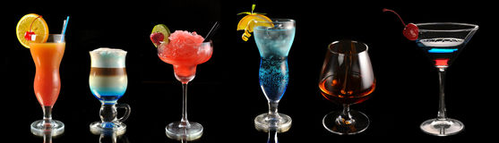 Cocktails at the bar royalty free stock photography