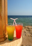 Cocktails on the beach Stock Photography