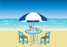 Cocktails on the beach Royalty Free Stock Photos