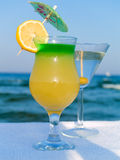Cocktails at the Beach Royalty Free Stock Photo