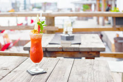 Cocktails. At a Beachclub, fruiti stock photo