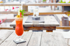 Cocktails. At a Beachclub, fruiti royalty free stock photos