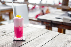 Cocktails. At a Beachclub, fruiti stock image