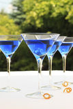 Cocktails bleus Photos stock