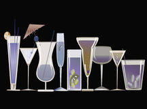 Cocktails bleus illustration libre de droits
