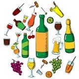 Cocktails, boissons d'alcool et boissons Photos libres de droits