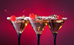 Cocktails with cherry Royalty Free Stock Image