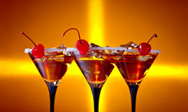 Cocktails with cherry Stock Image
