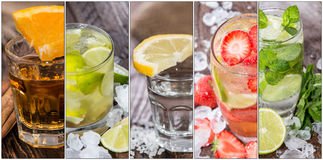 Cocktails Collage stock images