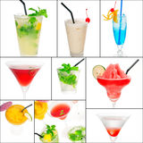 Cocktails collage Royalty Free Stock Photo