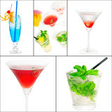 Cocktails collage Royalty Free Stock Images