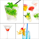 Cocktails collage Royalty Free Stock Photos
