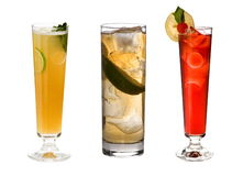 Cocktails collection Royalty Free Stock Photos
