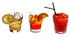 Cocktails collection Royalty Free Stock Photography