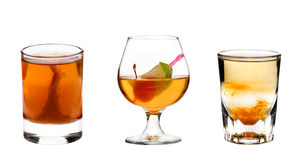 Cocktails collection Royalty Free Stock Images