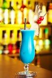 Cocktails Collection - Blue Hawaiian stock photos