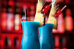 Cocktails Collection - Blue Hawaiian Stock Photo