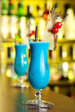 Cocktails Collection - Blue Hawaiian Royalty Free Stock Images