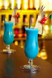Cocktails Collection - Blue Hawaiian Stock Photography