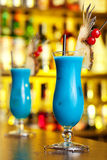 Cocktails Collection - Blue Hawaiian Royalty Free Stock Image
