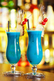 Cocktails Collection - Blue Hawaiian royalty free stock photo