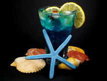 Cocktails Collection - Blue Lagoon Royalty Free Stock Images