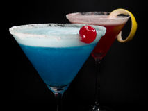 Cocktails Collection - Blue and Pink Ladies Royalty Free Stock Photos