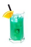 Cocktails collection - Blue Whale. Ingredients: 1 part vodka 1 part Blue Curacao liqueur 1 part orange juice 1 part pineapple juice 1 part sweet and sour mix stock photography