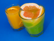 Cocktails Collection - Citrus Fruit Juices Royalty Free Stock Images
