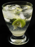 Cocktails Collection - Gimlet on black Stock Photography