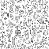 Cocktails collection, seamless pattern for your design Stock Photo